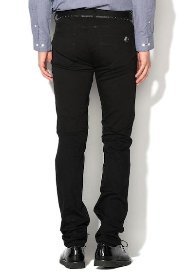 Versace Collection Черни дънки с кожени акценти Мъже
