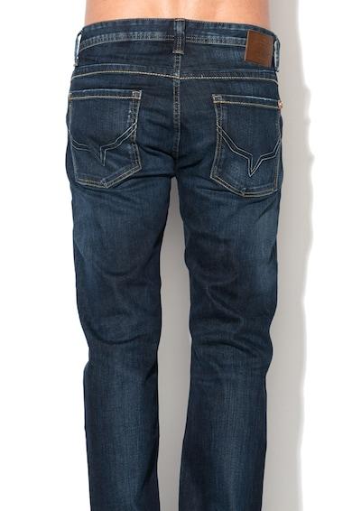 Pepe Jeans London Jeansi albastru inchis regular fit cu fermoar Kingstone Barbati
