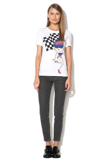 Love Moschino Tricou alb cu imprimeu cu Betty Boop Femei