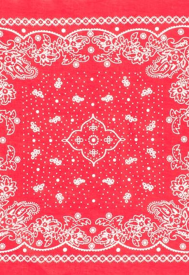 Levi's Червен шал с бяла етно шарка Жени
