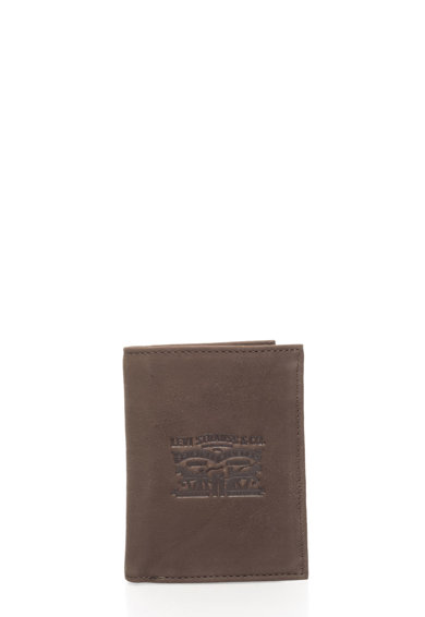 Levi's Levi`s Coffee Brown Nubuck Leather Wallet Мъже