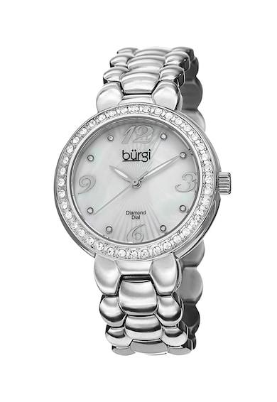 BURGI Ceas quartz decorat cu diamante si cristale Femei