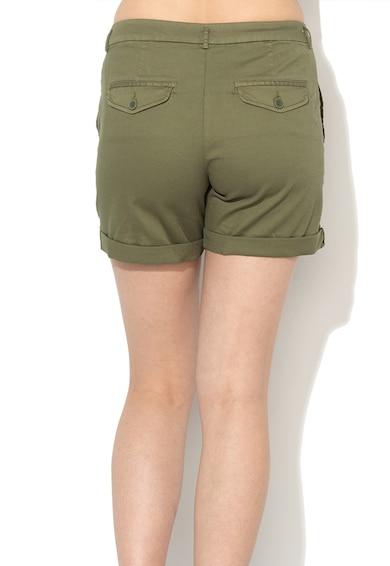 United Colors of Benetton Pantaloni scurti verde militar cu terminatie pliabila Femei