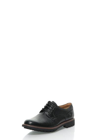 Clarks Pantofi negri din piele Montacute Barbati