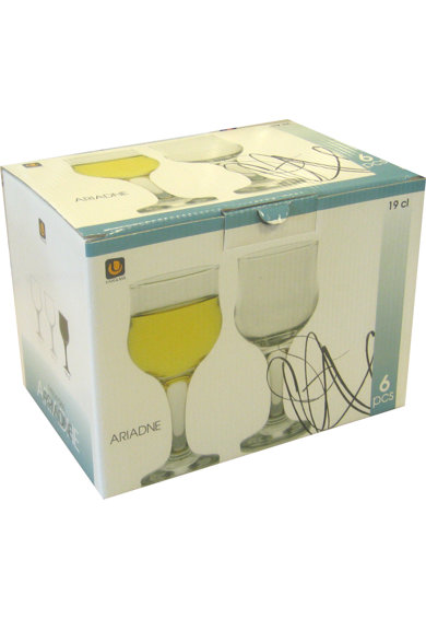 Uniglass Set 6 Pahare cu picior vin alb  Ariadne, 185 ml Femei