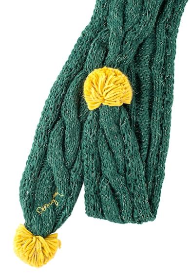 DESIGUAL Fular verde cu ciucuri Femei