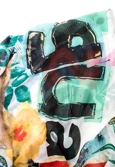 DESIGUAL Fular multicolor cu imprimeu logo Carry Femei