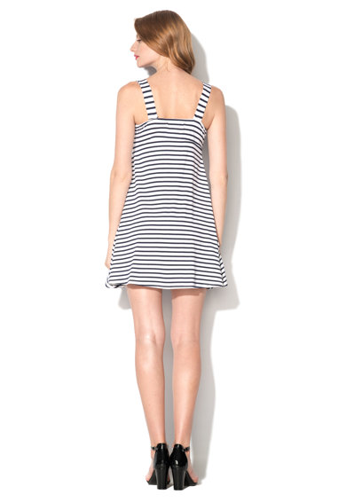 M by Maiocci Rochie in dungi albe si bleumarin PED-10509-WHITE-NAVY Femei