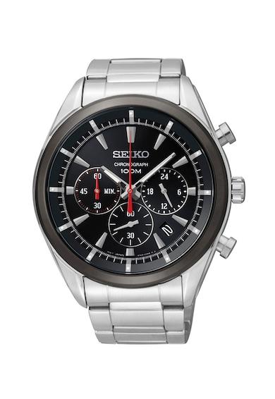 Seiko Часовник от неръждаема стомана с хронограф Мъже