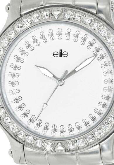 Elite Fashion Ceas argintiu cu alb Femei