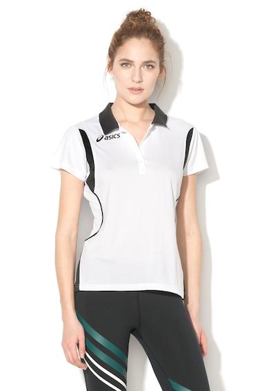 Asics Samantha galléros póló kontrasztos részletekkel női