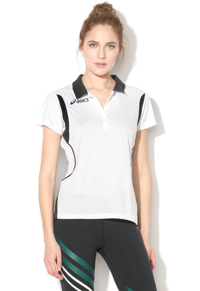 Asics Tricou polo cu segmente contrastante pentru tenis Samantha Femei