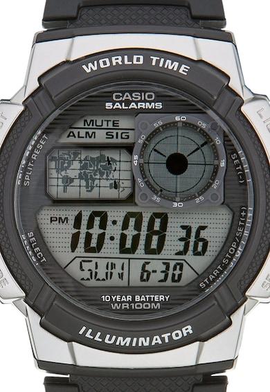 Casio Черен часовник с хронограф Мъже