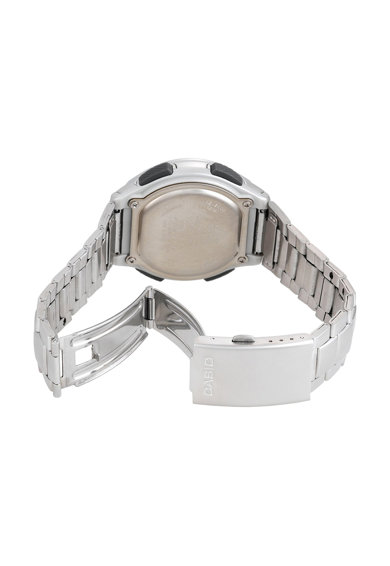 Casio Ceas cronograf unisex Wave, Argintiu Femei