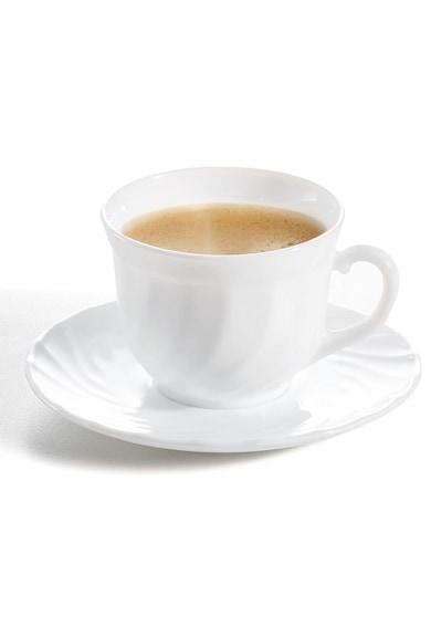 Luminarc Serviciu de ceai 12 piese  Trianon, 6 cesti 220 ml + 6 farfurioare Femei