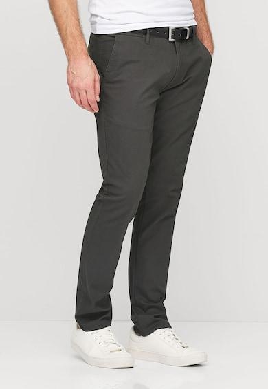 NEXT Pantaloni chino gri inchis cu o curea Barbati