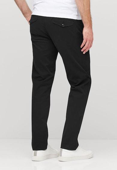 NEXT Pantaloni chino negri cu o curea Barbati