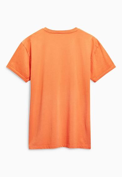 NEXT Narancssárga Póló Lenyomattal A Mellkasán férfi