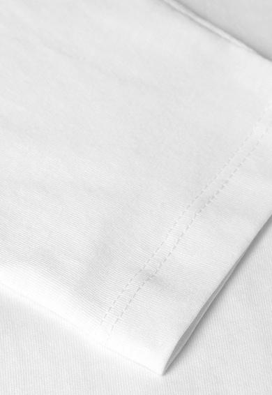 NEXT Fehér Kerek Nyakú Vékony Pulóver Normál Fazonnal férfi