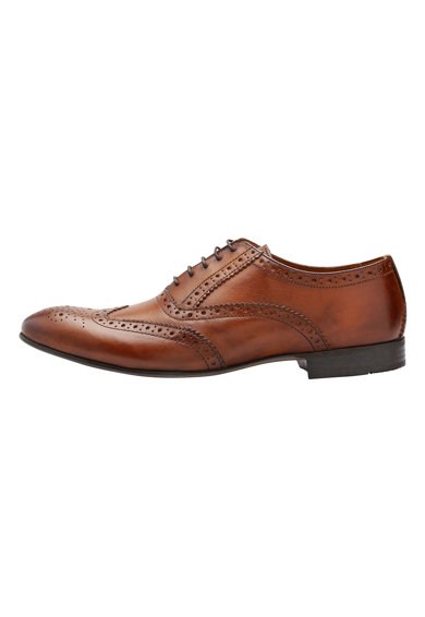 NEXT Oxford brogue bőrcipő férfi
