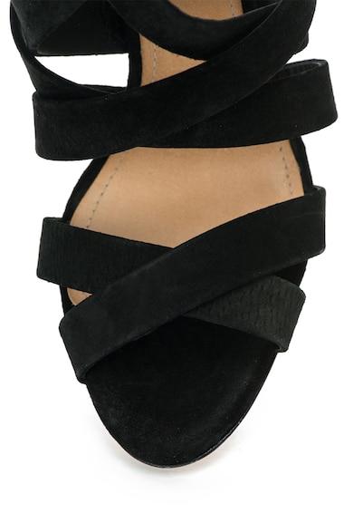 Schutz Sandale negre de piele intoarsa cu barete multiple Femei