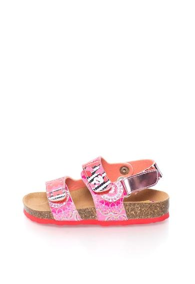 DESIGUAL Sandale in nuante de roz Trazos Fete