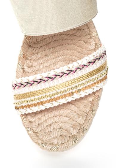 DESIGUAL Sandale wedge cu aspect metalizat Femei