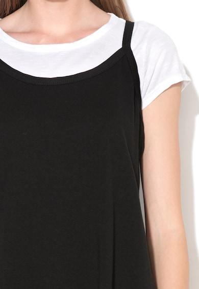 M by Maiocci Set negru cu alb de rochie midi si tricou Femei