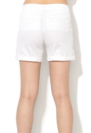 United Colors of Benetton Pantaloni scurti albi cu terminatie pliabila Femei