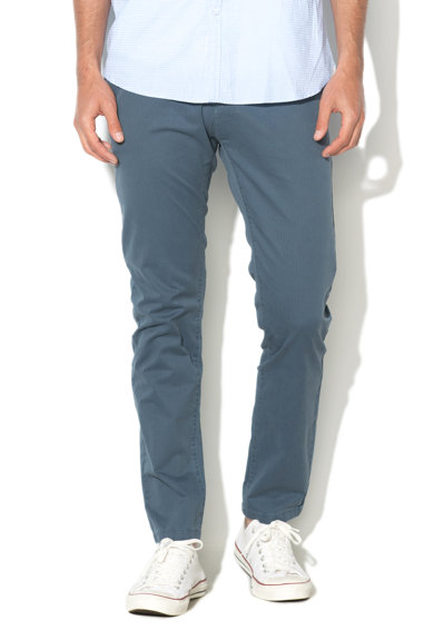 Zee Lane Denim Pantaloni chino albastri cu model grafic discret Barbati