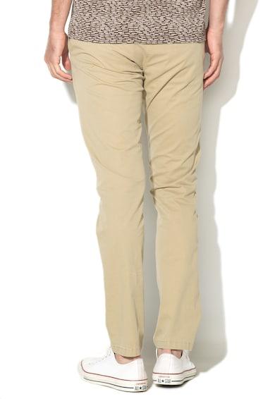 Zee Lane Denim Pantaloni chino bej cu model grafic discret Barbati