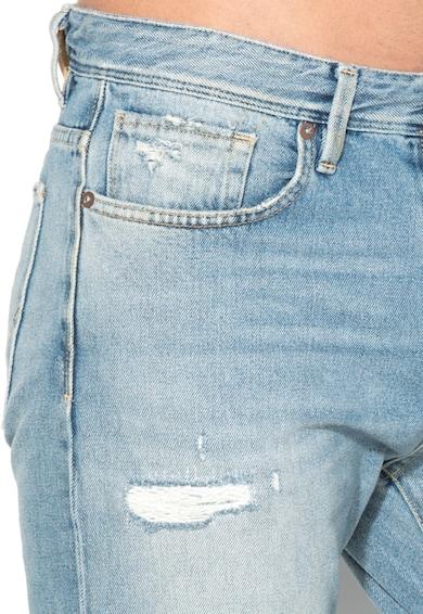 Selected Homme Светлосини дънки с протрити зони Мъже