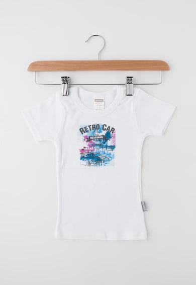 Absorba Детска бяла тениска с щампа Момчета