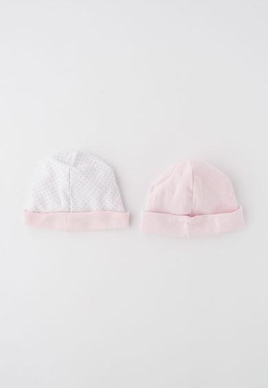 Absorba Set de caciuli alb cu roz deschis - 2 piese Fete