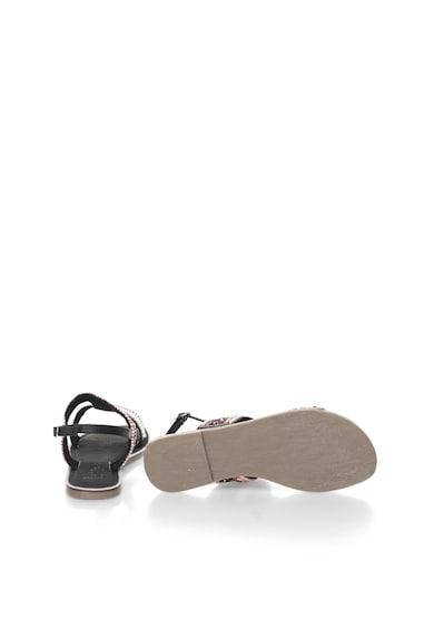 Bullboxer Sandale negru si corai decorate cu margele Femei