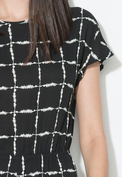 Zee Lane Collection Salopeta negru si alb cu decolteu in V pe partea din spate Femei