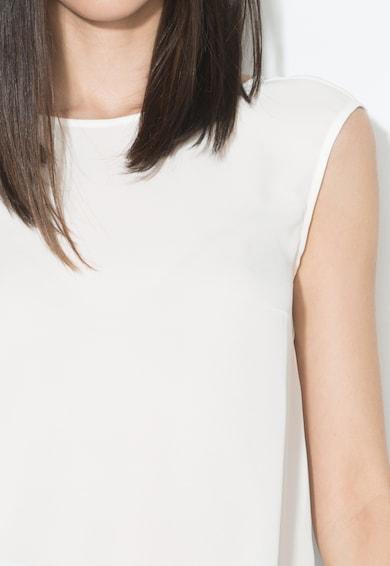 Zee Lane Collection Бял ефирен топ с шпиц деколте Жени