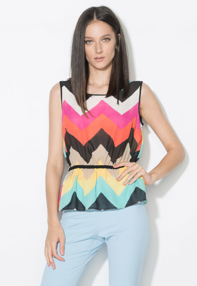 Zee Lane Collection Top multicolor transparent cu model in zigzag Femei