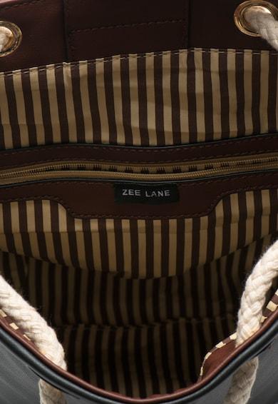 Zee Lane Rucsac negru si maro cu snur Femei