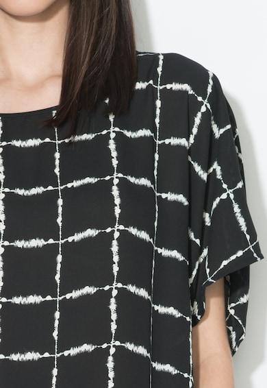 Zee Lane Collection Блуза в черно и бяло с ръкави тип кимоно Жени