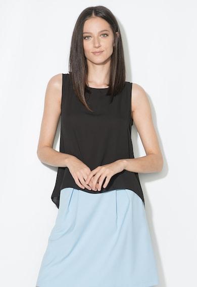 Zee Lane Collection Fekete Top Aszimmetrikus Alsó Szegéllyel női