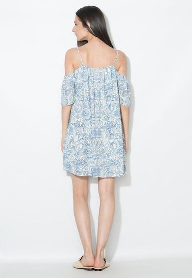 Zee Lane Collection Рокля в синьо и мръснобяло с отвори на раменете Жени