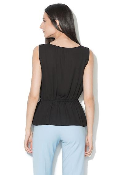 Zee Lane Collection Top negru cu insertie elastica Femei