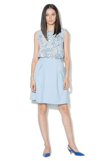 Zee Lane Collection Fusta bleu cu croiala A Femei