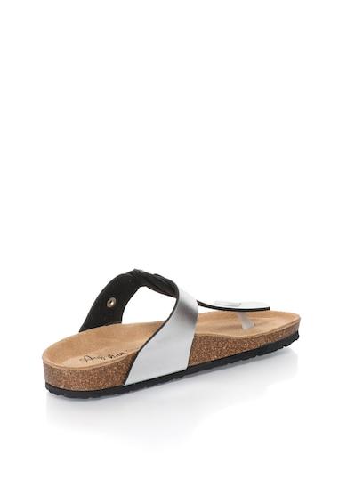 Australian Сребристи чехли с Т-образна каишка Жени