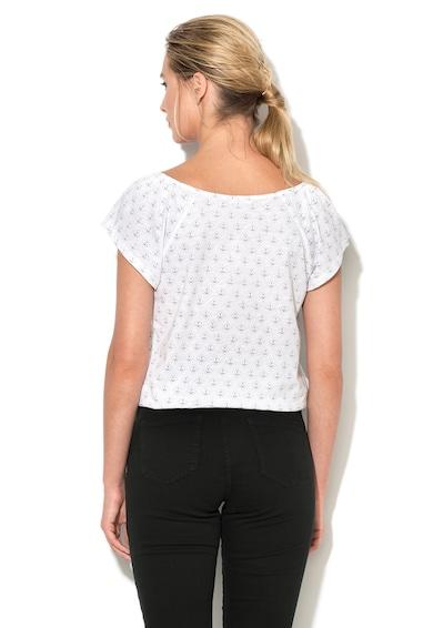 Esprit Tricou alb cu imprimeu grafic Femei