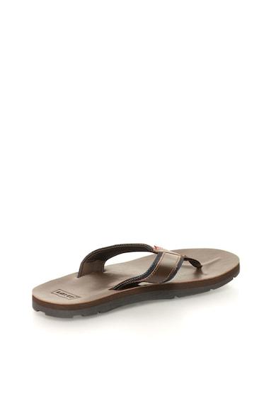 Levi's Тъмнокафяви чехли с детайли от деним Мъже