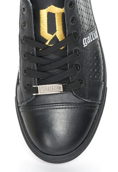 John Galliano Черни кожени спортни обувки с перфорации Жени