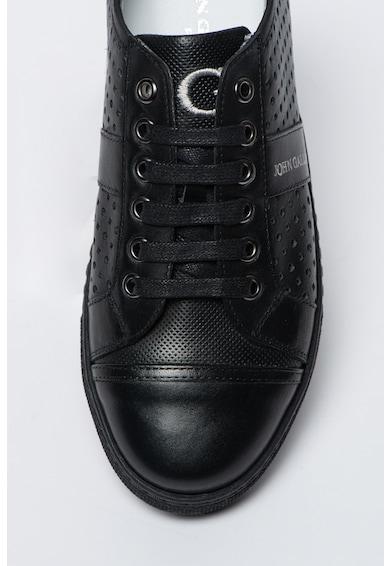 John Galliano Fekete Perforált Bőrcipő női