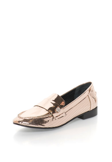 John Galliano Pantofi loafer auriu rose lacuiti Femei